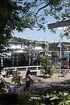 San Juan Island, Friday Harbor, San Juan Islands, Washington State, Pacific Northwest, United States, North America, USA, coastal town, waterfront, yacht harbor, Washington State Ferries, summer tourist season, tourists,