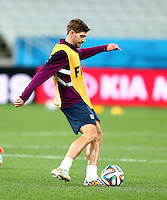 Steven Gerrard of England during training ahead of tomorrow's Group D match vs Uruguay