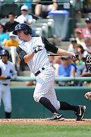 Trenton Thunder catcher Jeff Farnham (41) during game against the Harrisburg Senators at ARM & HAMMER Park on July 31, 2013 in Trenton, NJ.  Harrisburg defeated Trenton 5-3.  (Tomasso DeRosa/Four Seam Images)