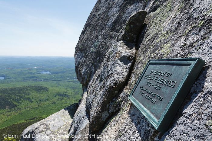 Cow Rock near the summit of Mount Chocorua in the White Mountains of New Hampshire USA. Cow Rock is a small cave in which Frank Bolles, a naturalist and writer, spent the night in.