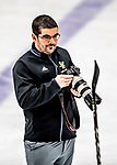 16 February 2019: University of Vermont Catamount Director of Athletic Communications and Broadcasting Nich Hall takes photographs following a Women's Ice Hockey game against the Holy CrossCrusaders at Gutterson Fieldhouse in Burlington, Vermont. The Lady Cats defeated the Crusaders 4-1 to sweep their 2-game weekend series. Mandatory Credit: Ed Wolfstein Photo *** RAW (NEF) Image File Available ***
