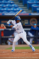 St. Lucie Mets designated hitter Luis Carpio (12) during a Florida State League game against the Florida Fire Frogs on April 12, 2019 at First Data Field in St. Lucie, Florida.  Florida defeated St. Lucie 10-7.  (Mike Janes/Four Seam Images)