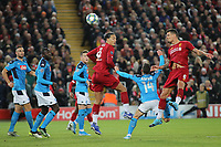 Liverpool v Napoli UEFA Champions League Dejan Lovren of Liverpool scores the first goal against Napoli during the UEFA Champions League match at Anfield, Liverpool. PUBLICATIONxNOTxINxUKxCHN Copyright: xMichaelxSedgwickx FIL-13908-0022<br /> Liverpool 27-11-2019 Anfield <br /> Football Uefa Champions League 2019/2020 <br /> Liverpool Vs Napoli <br /> Photo Imago/Insidefoto <br /> ITALY ONLY