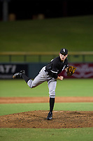 AZL White Sox relief pitcher Salvador Villarreal (77) follows through on his delivery against the AZL Cubs on August 13, 2017 at Sloan Park in Mesa, Arizona. AZL White Sox defeated the AZL Cubs 7-4. (Zachary Lucy/Four Seam Images)