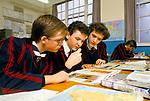 Grammar school 1990s UK.  Tiffin School is a boys' grammar school in Kingston upon Thames. Boys only single sex education 1990 England