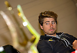 Peter Sagan (SVK) Tinkoff Saxo at press conference to launch the 2015 Tirreno-Adriatico cycle race held in Lido di Camaiore, Lucca, Italy. 10th March 2015. Photo: ANSA/Claudio Peri/www.newsfile.ie