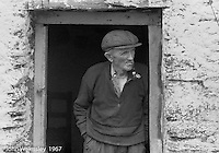 """Largely a farming community, Dunquin (in Gaelic, Dún Chaoin, meaning """"Caon's stronghold""""), on the tip of the Dingle Peninsula, County Kerry, Ireland.  1971."""