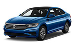2019 Volkswagen Jetta SEL 4 Door Sedan angular front stock photos of front three quarter view