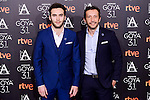Ricardo Gomez and director Salvador Calvo attends to the 2017 Goya Awards Candidates Cocktail at Ritz Hotel in Madrid, Spain. January 12, 2017. (ALTERPHOTOS/BorjaB.Hojas)