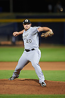 Glendale Desert Dogs pitcher J.B. Wendelken (40) delivers a pitch during an Arizona Fall League game against the Peoria Javelinas on October 19, 2015 at Peoria Stadium in Peoria, Arizona.  Glendale defeated Peoria 4-2.  (Mike Janes/Four Seam Images)