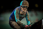 ARCADIA, CA - JANUARY 07: A muddy Martin Pedroza and Yes Yes Yes cross the wire in the 6th race at Santa Anita Park on January 7, 2017 in Arcadia, California. (Photo by Alex Evers/Eclipse Sportswire/Getty Images)