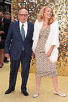 """Rupert Murdoch and Jerry Hall<br /> arrives for the World Premiere of """"Absolutely Fabulous: The Movie"""" at the Odeon Leicester Square, London.<br /> <br /> <br /> ©Ash Knotek  D3137  29/06/2016"""