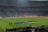 Italian and English players before the Uefa Euro 2020 Final football match between Italy and England at Wembley stadium in London (England), July 11th, 2021. <br /> Photo Andrea Staccioli / Insidefoto