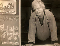 BNPS.co.uk (01202) 558833<br /> Pic: Jemma Lennie/BNPS<br /> <br /> Pictured: John Lennie spent over 40 years selling ice creams<br /> <br /> A much-loved ice cream seller was given a fitting send off by colleagues who followed his funeral cortege in a convoy of 10 ice cream vans. <br /> <br /> John Lennie spent over 40 years selling ice creams from his trusty van in his local community.<br /> <br /> So dedicated was he to his job that he was still doing his rounds just two days before he died at the age of 79.<br /> <br /> His daughter, Jemma Lennie, led the procession in her father's old colourful truck at his funeral in Wimborne, Dorset.