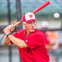 15 March 2016: Washington Nationals Bench Coach Chris Speier taps out grounders prior to a Spring Training pre-season game against the Houston Astros at Osceola County Stadium in Kissimmee, Florida. The Nationals defeated the Astros 6-4 in Grapefruit League play. Mandatory Credit: Ed Wolfstein Photo *** RAW (NEF) Image File Available ***