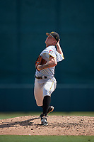 Pittsburgh Pirates pitcher Austin Shields (17) delivers a pitch during an Instructional League game against the Baltimore Orioles on September 27, 2017 at Ed Smith Stadium in Sarasota, Florida.  (Mike Janes/Four Seam Images)