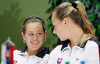 Tenis, Fed Cup 2011, play-off for group A.Slovakia Vs. Serbia, Official Draw.Jana Cepelova, left and Magdalena Rybarikova.Bratislava, 15.04.2011..foto: Srdjan Stevanovic/Starsportphoto ©