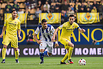 Bruno Soriano Llido of Villarreal CF is followed by Willian Jose da Silva of Real Sociedad during their Copa del Rey 2016-17 Round of 16 match between Villarreal and Real Sociedad at the Estadio El Madrigal on 11 January 2017 in Villarreal, Spain. Photo by Maria Jose Segovia Carmona / Power Sport Images