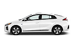 Car Driver side profile view of a 2017 Hyundai Ioniq-Electric Electric-Limited 5 Door Hatchback Side View