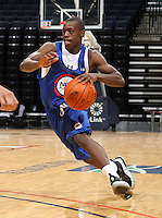 Chris Jones at the NBPA Top100 camp at the John Paul Jones Arena Charlottesville, VA. Visit www.nbpatop100.blogspot.com for more photos. (Photo © Andrew Shurtleff)
