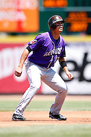 May 31, 2009:  Shortstop Carlos Rivero of the Akron Aeros runs the bases during a game at Jerry Uht Park in Erie, NY.  The Aeros are the Eastern League Double-A affiliate of the Cleveland Indians.  Photo by:  Mike Janes/Four Seam Images