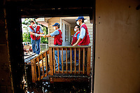 .Photography of Lowe's Heroes in action the areas hit by flooding from Tropical Storm Debby in Live Oak, Florida...Photos by: Patrick Schneider Photo.com