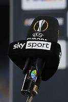 Microphone prior to the Europa League round of 32, 2nd leg football match between SSC Napoli and Granada CF at Diego Armando Maradona stadium in Napoli (Italy), February 25, 2021.<br /> Photo Cesare Purini / Insidefoto
