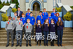 past pupils from  Scartaglen NS with the Principal Paul Moroney after they made their Confirmation in Scartaglen on Saturday