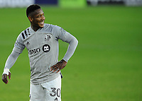 WASHINGTON, DC - NOVEMBER 8: Romell Quioto #30 of Montreal Impact during a game between Montreal Impact and D.C. United at Audi Field on November 8, 2020 in Washington, DC.