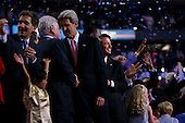 Boston, Mass..USA.July 29, 2004..The final night of the Democratic National Convenvention. Senator John Kerry, the Presidentual nomaniee for democtratic ticket, addresses the crowd.