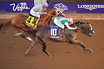 ARCADIA, CA - NOVEMBER 05: Arrogate #10, ridden by Mike Smith, wins the Breeders' Cup Classic during day two of the 2016 Breeders' Cup World Championships at Santa Anita Park on November 5, 2016 in Arcadia, California. (Photo by Michael McInally/Eclipse Sportswire/Breeders Cup)
