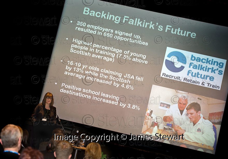 Rhona Geisler, Falkirk Council, at the Falkirk Business Panel Update Event 2012, Falkirk Town Hall..