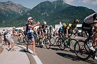 run along fan up the final climb of the day (in Spain!): the Col du Portillon (Cat1/1292m)<br /> <br /> Stage 16: Carcassonne > Bagnères-de-Luchon (218km)<br /> <br /> 105th Tour de France 2018<br /> ©kramon