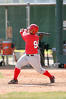 Jose Jimenez, Los Angeles Angels 2010 minor league spring training..Photo by:  Bill Mitchell/Four Seam Images.