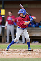 Photo of the Presbyterian College Blue Hose in a game against the University of South Carolina Upstate Spartans on Tuesday, March 23, 2021, at Cleveland S. Harley Park in Spartanburg, South Carolina. (Tom Priddy/Four Seam Images)