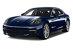 2018 Porsche Panamera 4 E-Hybrid 5 Door Hatchback angular front stock photos of front three quarter view