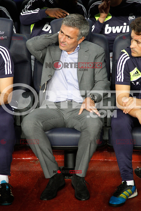Real Madrid's Jose Mourinho during la Liga match on october 7th 2012. ..Photo: Cesar Cebola  / ALFAQUI /©NortePhoto