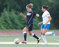New York Fury defender Kim Yokers (6) passes the ball. In a Women's Premier Soccer League Elite (WPSL) match, the Boston Breakers defeated New York Fury, 2-0, at Dilboy Stadium on June 23, 2012.