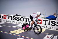 Stefan Bissegger (SUI/EF Education - Nippo) shooting off the start ramp<br /> <br /> Men Elite Individual Time Trial <br /> from Knokke-Heist to Bruges (43.3 km)<br /> <br /> UCI Road World Championships - Flanders Belgium 2021<br /> <br /> ©kramon
