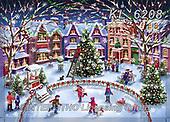 Interlitho-Marcello, CHRISTMAS LANDSCAPES, WEIHNACHTEN WINTERLANDSCHAFTEN, NAVIDAD PAISAJES DE INVIERNO, paintings+++++,24 calendar images,KL6208,#xl# ,puzzle,puzzles