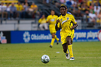 27 MAY 2009: #17 Emmanuel Ekpo, Columbus Crew mid fielder in action during the San Jose Earthquakes at Columbus Crew MLS game in Columbus, Ohio on May 27, 2009. The Columbus Crew defeated San Jose 2-1