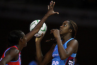 Steel's Jhaniele Fowler against the Swifts in the ANZ netball championship match, Stadium Southland Velodrome, Invercargill, New Zealand, Monday, May 06, 2013. Credit:NINZ/Dianne Manson