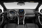 Stock photo of straight dashboard view of 2021 Mitsubishi Eclipse-Cross-PHEV Intense-Edition 5 Door SUV Dashboard