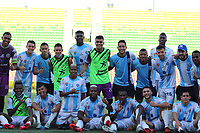 IBAGUÉ - COLOMBIA, 1-10-2020:Clasificó Real San Andrés. Real San Andrés y Atlético Huila en partido de  vuelta de la segunda ronda de clasificación de la Copa Betplay DIMAYOR  jugado en el estadio Manuel Murillo Toro de la ciudad de Ibagué. / Real San Andres and Atletico Huila  in the second leg of the second qualifying round of the DIMAYOR Betplay Cup played at the Manuel Murillo Toro  stadium in the city of Ibague. Photo: VizzorImage / Juan Jose Torres / Contribuidor