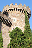 A view of a tower of Rocca Pia. This fortification is Tivoli's castle, that dates back to XV century (Tivoli, 2020).