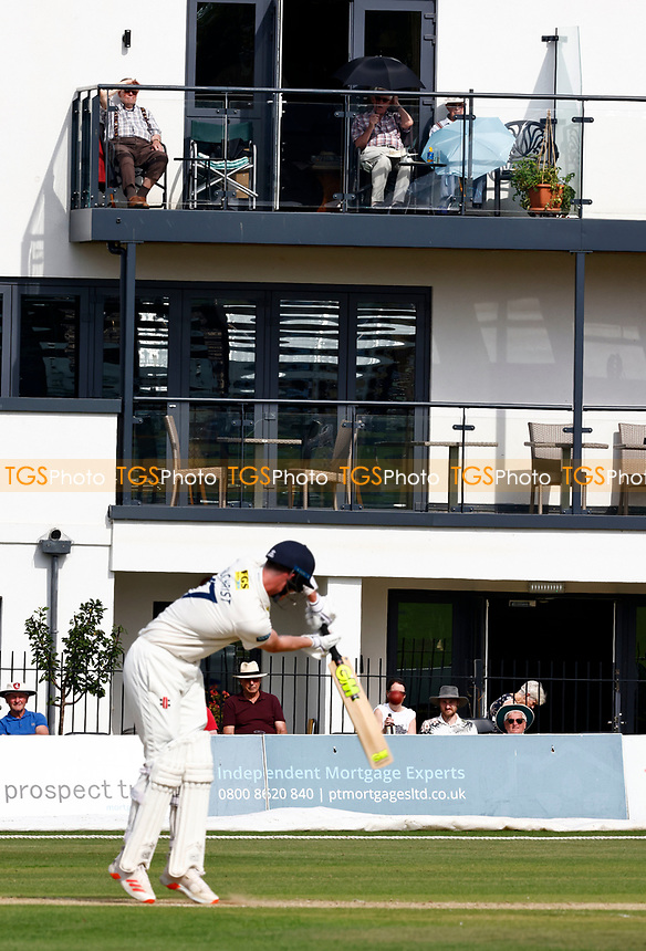 Residents in retirement flats overlooking the ground enjoy the sunny weather during Kent CCC vs Worcestershire CCC, LV Insurance County Championship Division 3 Cricket at The Spitfire Ground on 6th September 2021