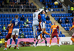 St Johnstone v Galatasaray…12.08.21  McDiarmid Park Europa League Qualifier<br />Ismail Cipe punches clear from Murray Davidson<br />Picture by Graeme Hart.<br />Copyright Perthshire Picture Agency<br />Tel: 01738 623350  Mobile: 07990 594431