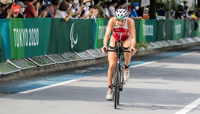 Kamylle Frenette, Tokyo 2020 - Para Triathlon // Paratriathlon.<br /> Kamylle Frenette competes in the women's PST5 triathlon // Kamylle Frenette participe au triathlon féminin PST5. 29/08/2021.