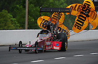 May 13, 2011; Commerce, GA, USA: NHRA top fuel dragster driver Scott Palmer during qualifying for the Southern Nationals at Atlanta Dragway. Mandatory Credit: Mark J. Rebilas-