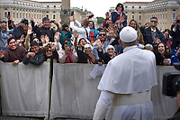 Pope Francis during of a weekly general audience at St Peter's square in Vatican, Wednesday.May 29, 2019